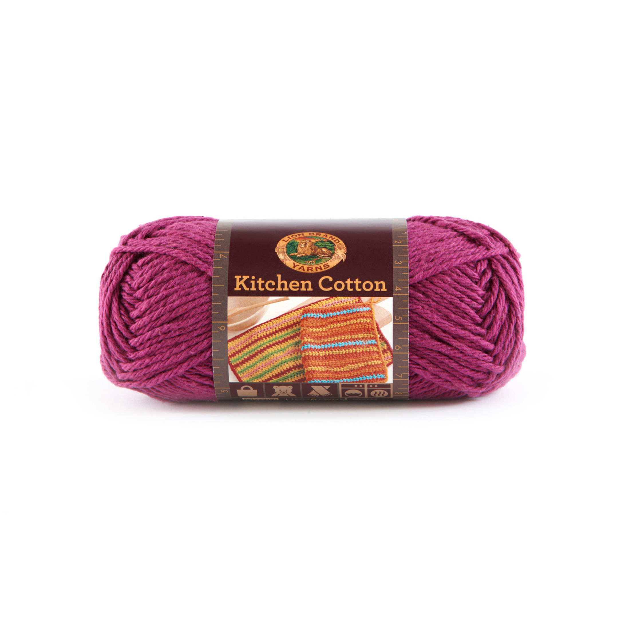 Lion Brand Kitchen Cotton Yarn (147) Grape