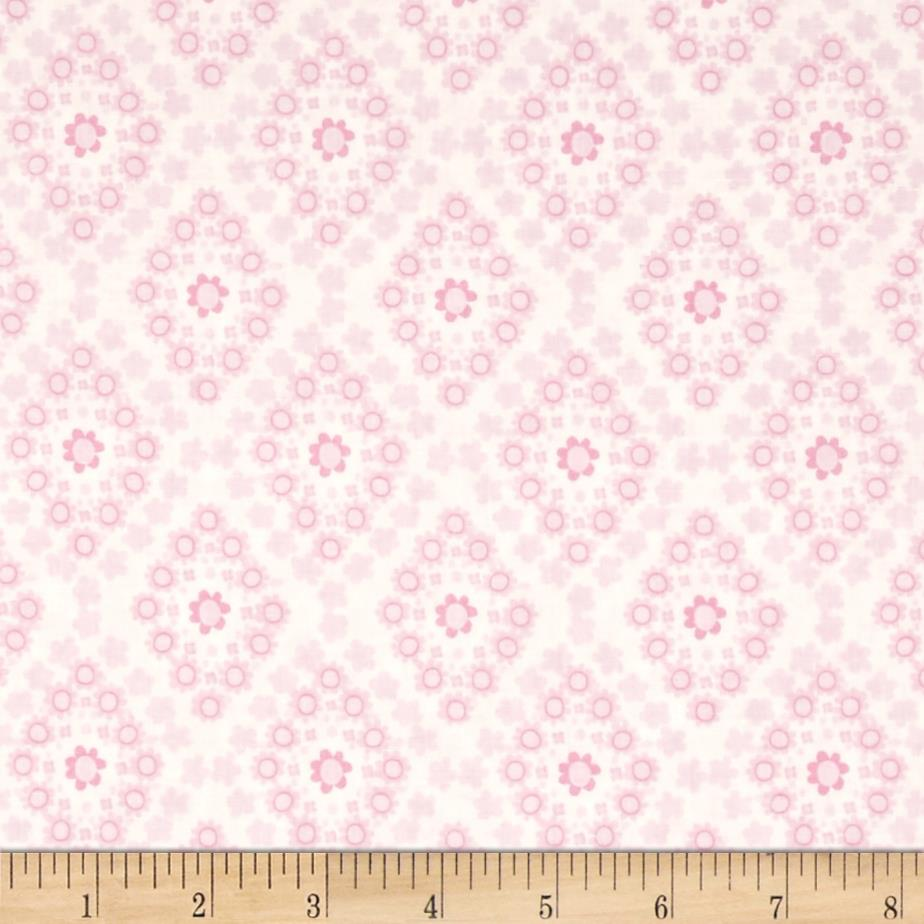Bobo baby daisy block pink discount designer fabric for Cheap baby fabric