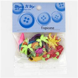 Dress It Up Embellishment Buttons  Tropicana