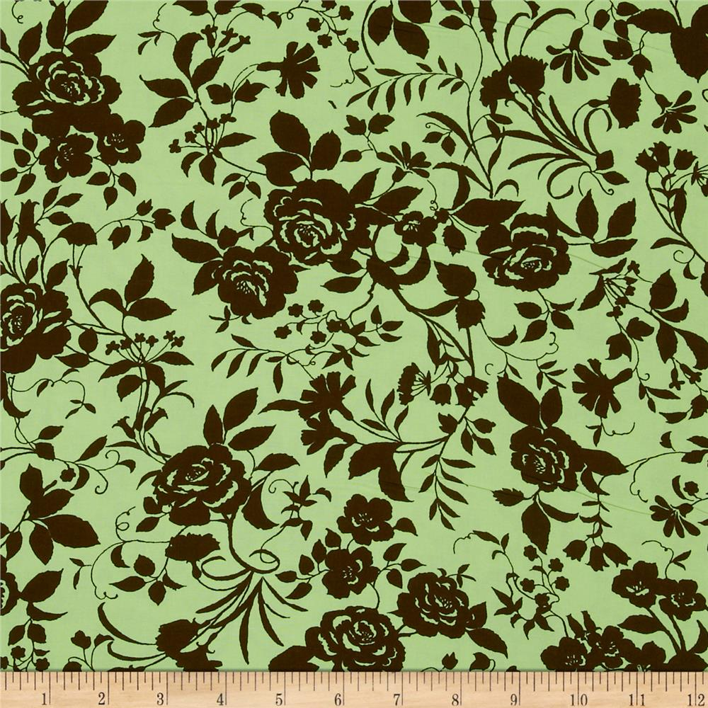 Pimatex Basics Floral Brown/Sage