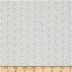 Dear Stella Lola Zig Zag Sterling Fabric