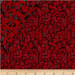 Graphix 3 Quilted Link Squares Red/Grey