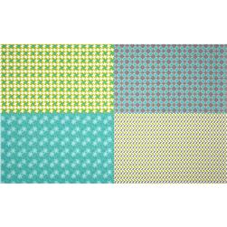 Riley Blake Gracie Girl Fat Quarter Panel Grey