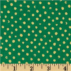 Confetti Sparkle Metallic Dots Green