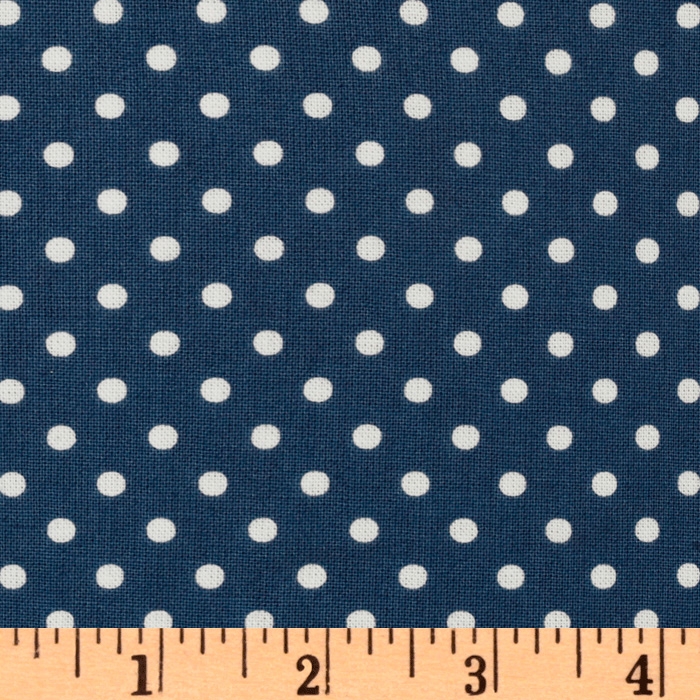 Michael Miller Petit Point Denim Blue Fabric