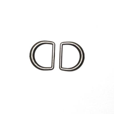 "Black Nickel D-Rings 3/4"" 2/Pkg"