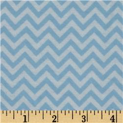 Dreamland Flannel Chic Chevron Dreamy Blue