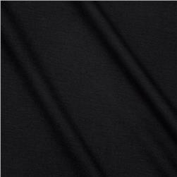 Lightweight Stretch Rayon Blend Jersey Knit Shadow Black