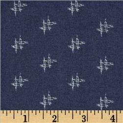 Heather Bailey Momentum Rayon Challis Factor Navy