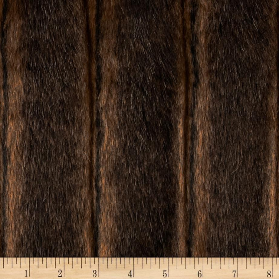 Faux Fur Fancy Mink Brown