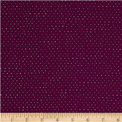 Ink & Arrow Pixie Square Dot Plum