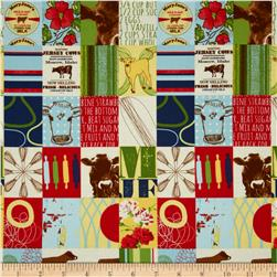 Moda Milk Cow Kitchen Pasture Patchwork Multi Fabric
