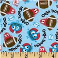 Football Ooga Booga Cotton Interlock Blue