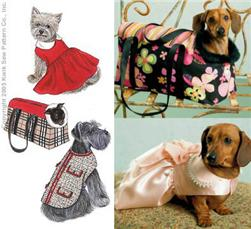 Kwik Sew Pet Jacket Dress and Carrier Pattern