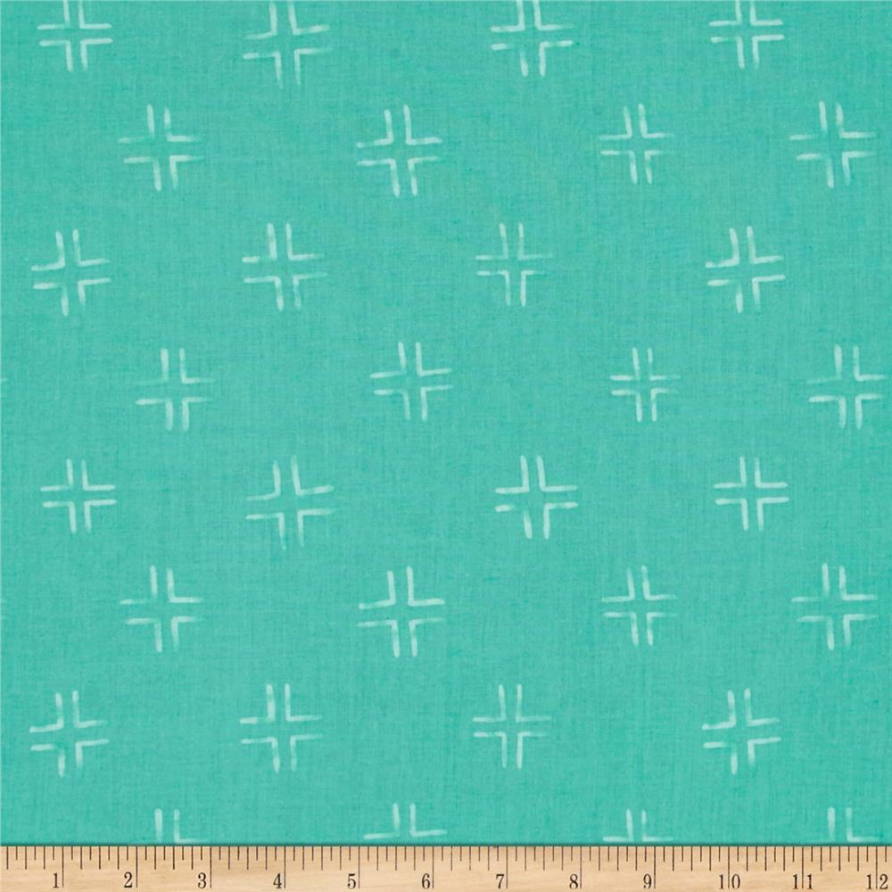 Cloud 9 Organic Brush Strokes Trellis Turquoise
