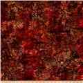 Island Batik Rayon Challis Sweet Tea Yellow/Red