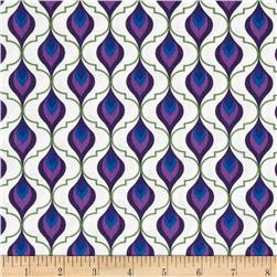 Royal Retro Teardrop Grid Purple/Blue