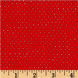 Pixie Square Dot  Red