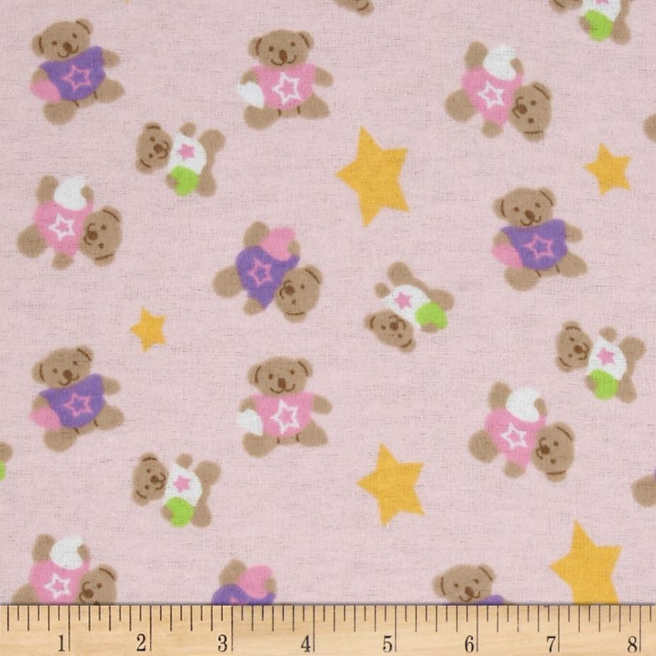 Newcastle Flannel Star Bears Pink