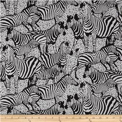 Serengeti Zebras Black