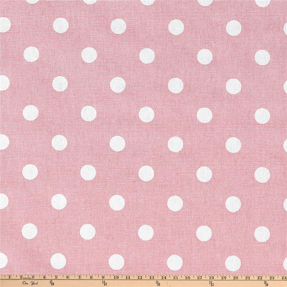 Premier prints polka dot baby pink discount designer for Cute baby fabric prints