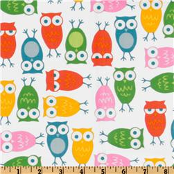 Urban Zoologie Owls White/Multi Fabric