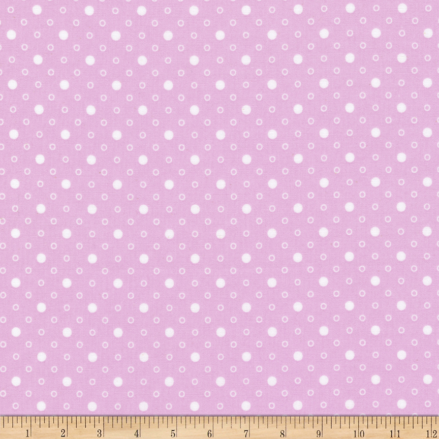 1930s House Dresses Kaufman Naptime Dots Lavender Fabric $9.92 AT vintagedancer.com
