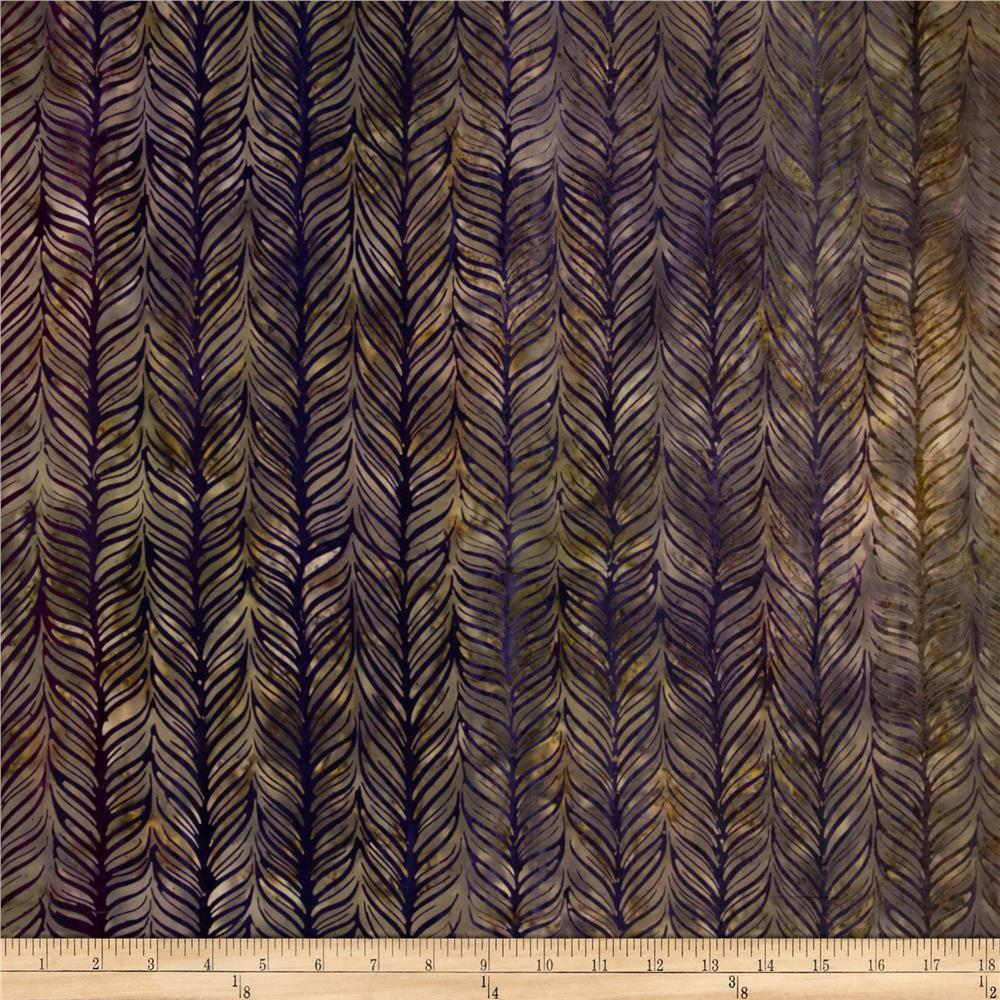 Artisan Batiks Elementals Horizontal Feather Eggplant