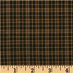 Yarn-Dyed Plaid Shirting Black/Brown