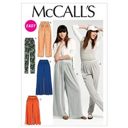 McCall's Misses' Pants In 2 Lengths Pattern M6514 Size A50