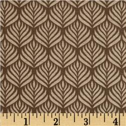 The Color Collection Feather Stripe Tan Fabric