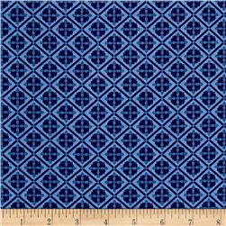 Riley Blake Blue Carolina Tile Navy
