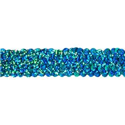 1 1/4'' Stretch Starlight Sequin Trim Aqua