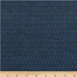 Kaufman Indikon 4.7 Oz Cotton Chambray Dot Plaid Blue