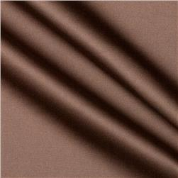 Stretch Cotton Poly Satin Brown