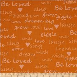 Giggle & Grow Text Orange