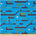 Nintendo Super Mario Game Scenes Blue