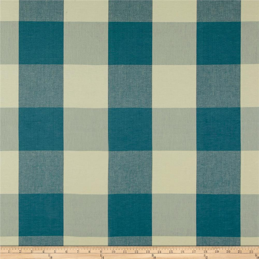 "Laura & Kiran 4"" Check Plaid Teal"