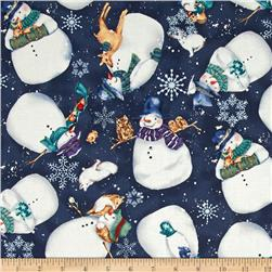Creature Comforts Toss Snowman Light Navy