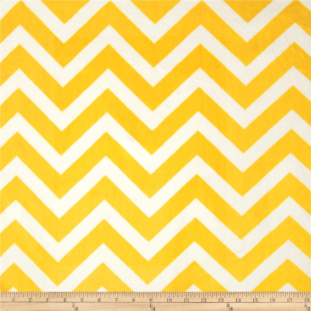 Minky Chevron Cuddle Lemon/Snow