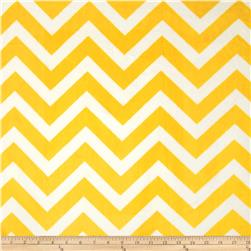 Shannon Minky Chevron Cuddle Lemon/Snow