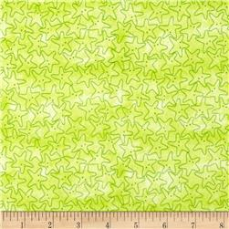 Under the Sea Starfish Tonal Lime Green