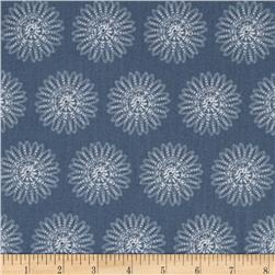 Moonflower Spiral Floral Grey
