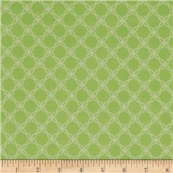 Kimberbell Little One Flannel Too! Lattice Green