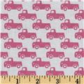 Michael Miller Tiny Trucks Pink