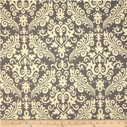 Riley Blake Home Décor Large Damask Grey Fabric