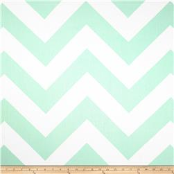 Premier Prints Zippy Chevron Twill Mint