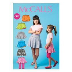 McCall's Children's/Girls' Skorts Pattern M6918 Size CCE