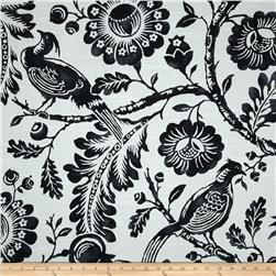Duralee Durham Slub Black/White Fabric
