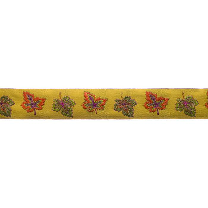 1 1/2'' Ribbon Leaves Gold/Orange